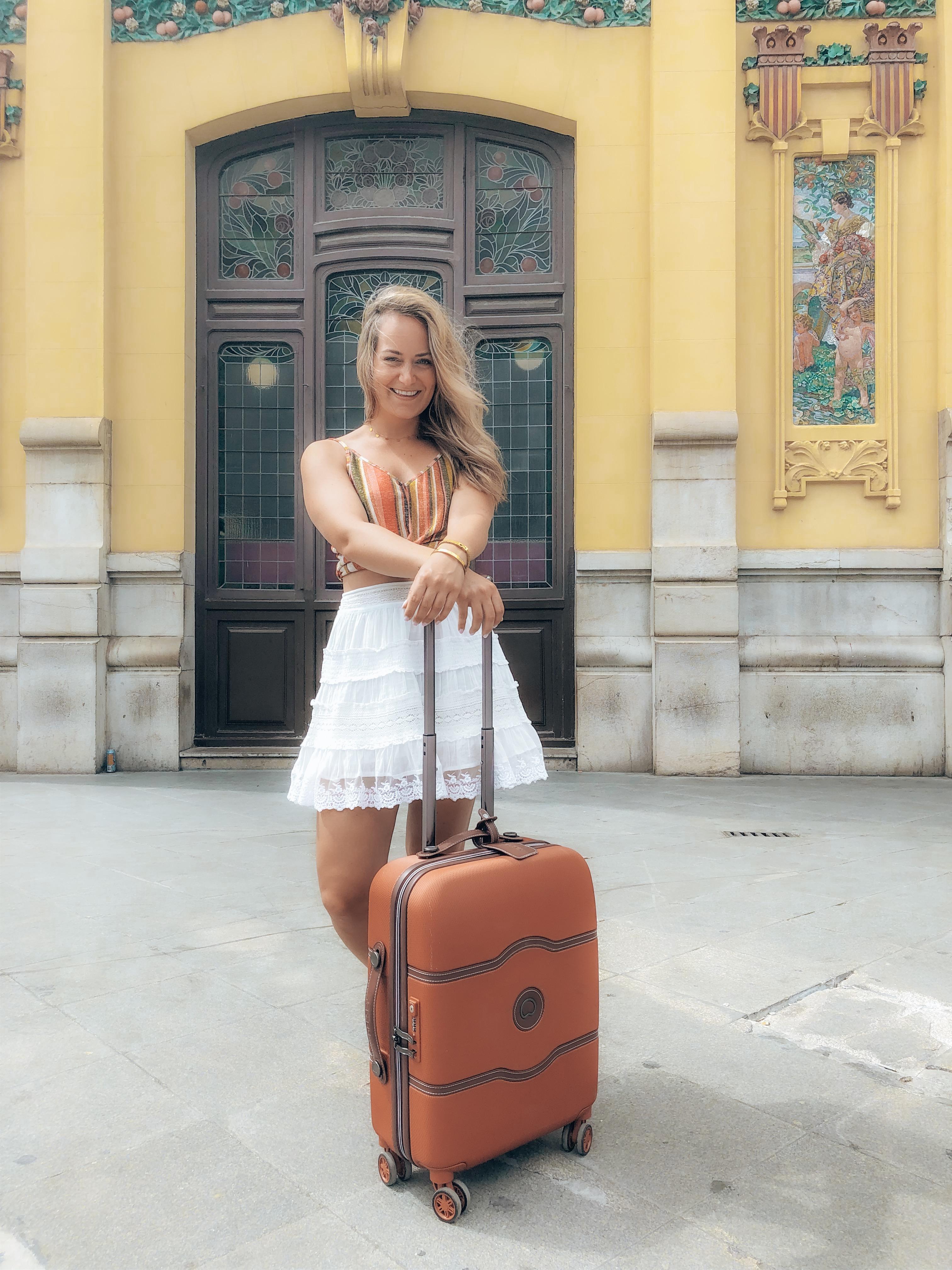 koffer, trolley, vakantie, kleine koffer, valencia, reizen, travel, mooie koffer