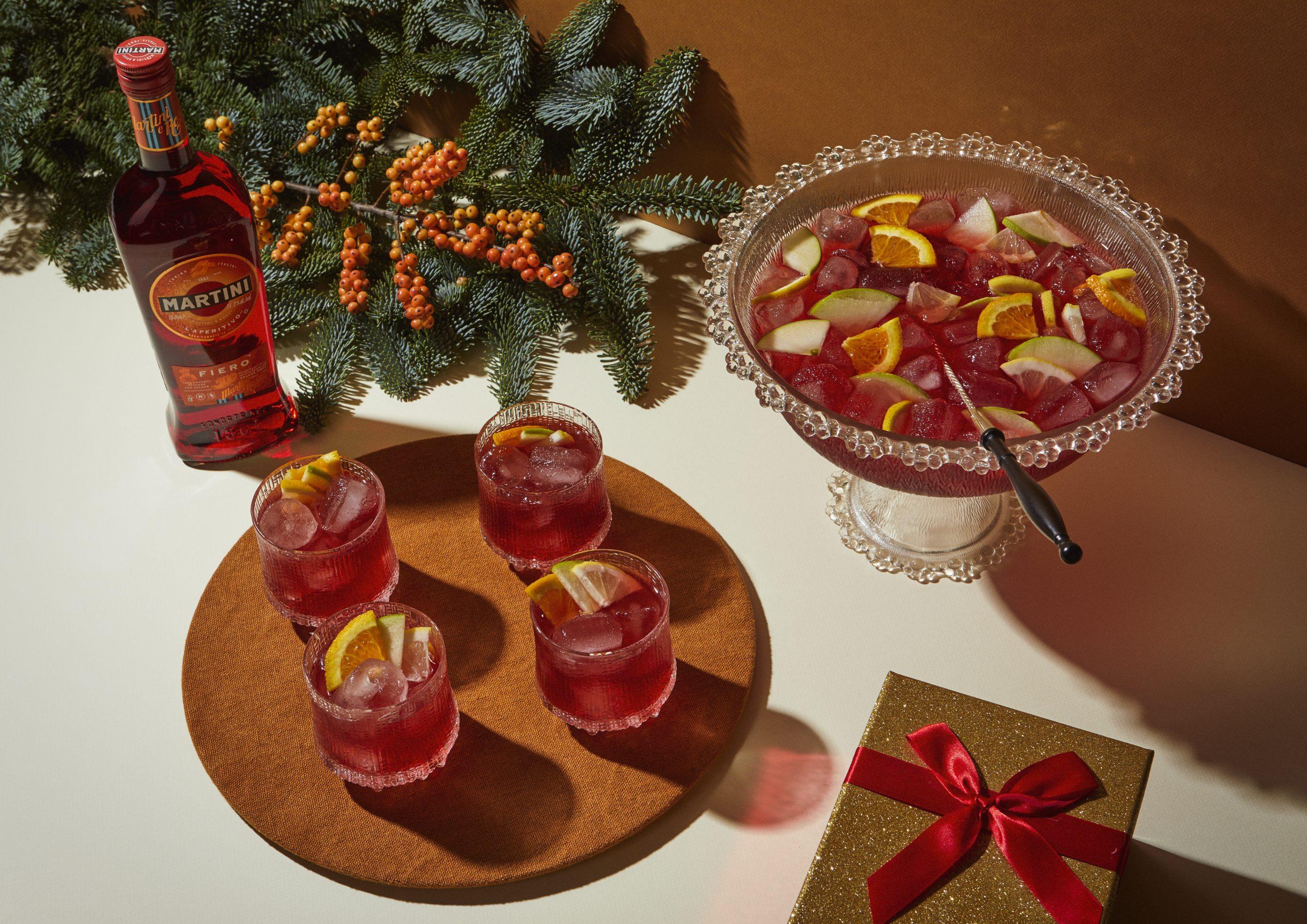 cocktail, drank, feestdagen, punch, alcohol, alcoholvrij, martini, bacardi, gin